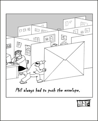 Phil Always Had to Push the Envelope - Blank - Single Card