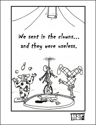 Sent In The Clowns - Blank - Single Card