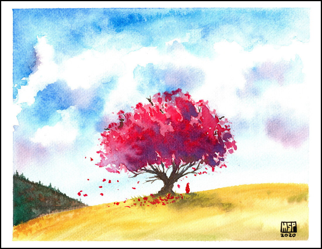 Autumn Tree - Blank - Boxed Cards