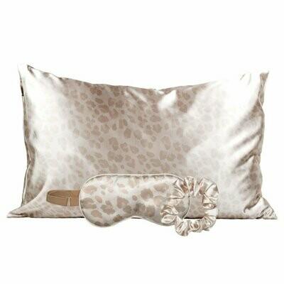 Satin Sleep Set - Leopard