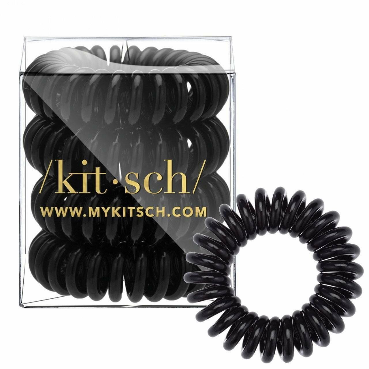 Black Hair Coils - 4 pack