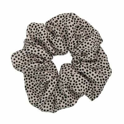 Brunch Scrunchie - Pink & Black Dot