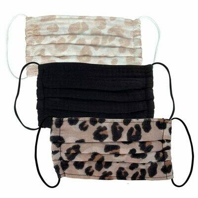 Cotton Mask 3pc Set - Leopard