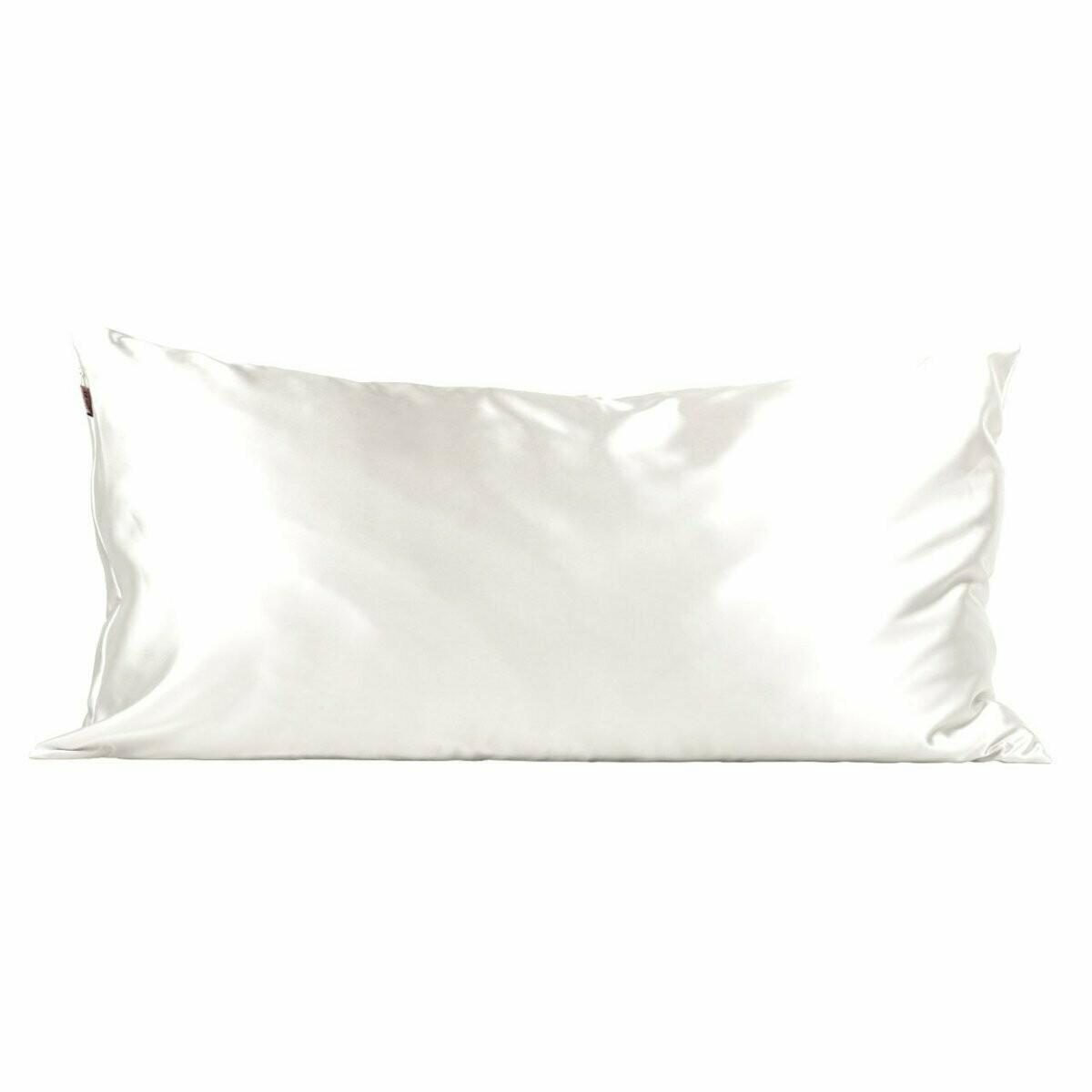 King Satin Pillow Case-Ivory