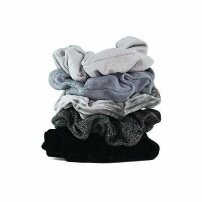 Black & Gray Velvet Scrunchies
