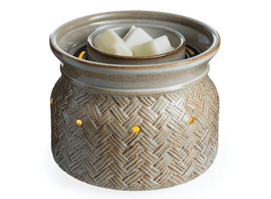 Basketweave Fan Fragrance Warmer