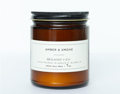 Build Your Own Candle - 7oz Amber Jar