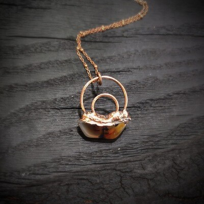 Ghost Agate Slice Pendant ǀ Agate Pendant Necklace