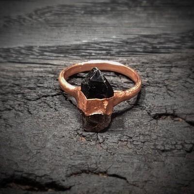 Handmade Smoky Quartz Jewelry ǀ Natural Quartz Ring
