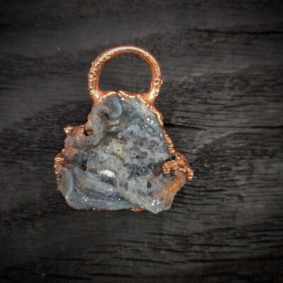 Agate Druzy Slice Pendant ǀ Druzy Pendant Necklace