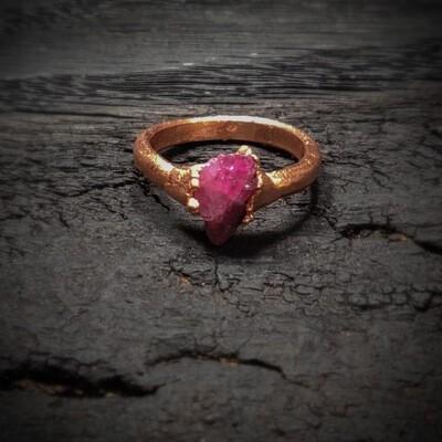 """Rock Candy"" Tourmaline Ring ǀ Handmade Ring with Tourmaline"