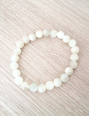 Bracelet en pierre de lune - Perle de 8 mm