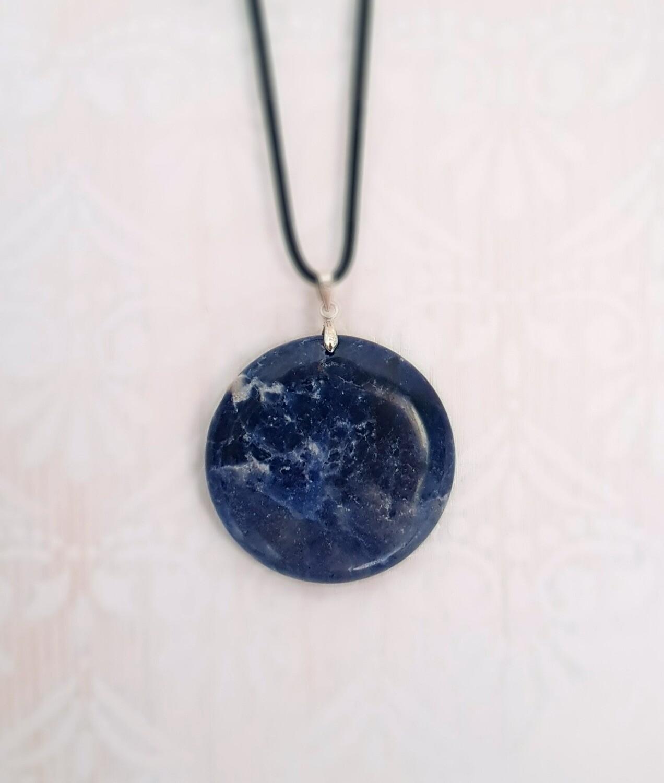 """Pendentif """"Constellation"""" en pierre Sodalite"""