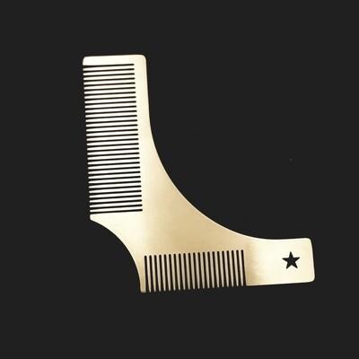 Peigne façonnage barbe en métal