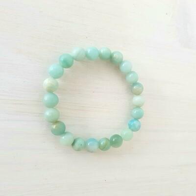 Bracelet en Amazonite perles 8 mm