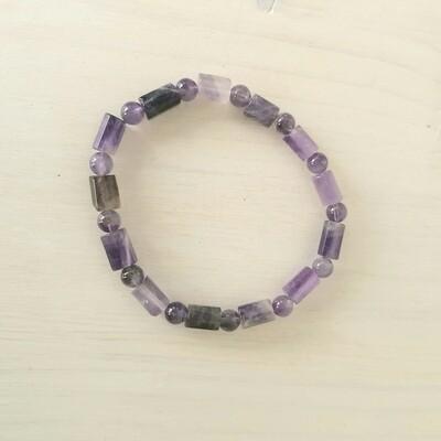 Bracelet en Améthyste- perles stylisées
