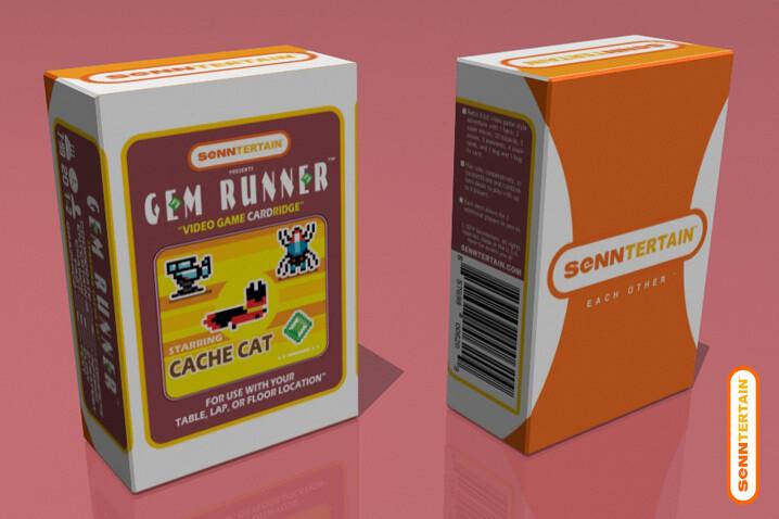 Gem Runner - Starring Cache Cat