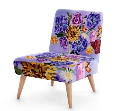 Painterly Floral Sustainable Occasional Chair