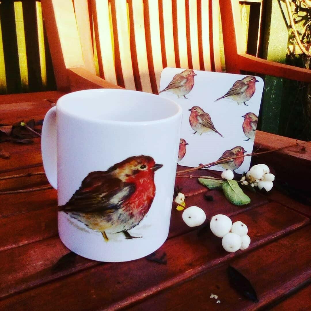 'Winter Companion' Mug and Coaster Set