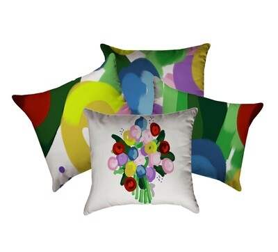Abstract Bouquet  Designer Collection set of four