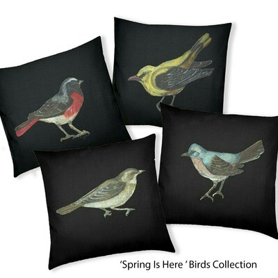 Spring is here Birds Designer Collection set of four