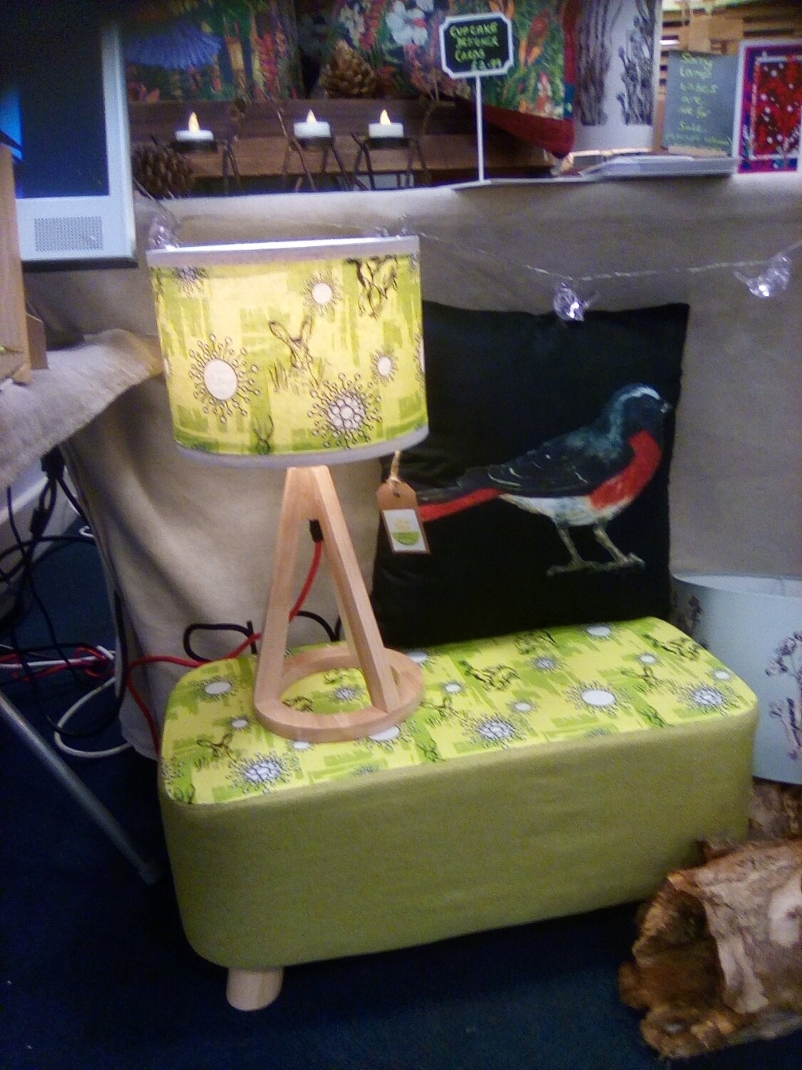 'Mad March Hare' Organic Lampshade