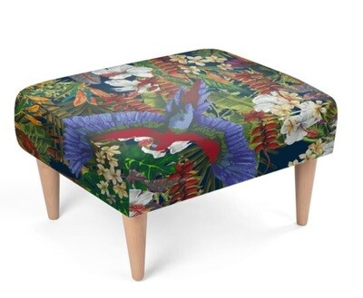 Tropical Paradise  Sustainable Footstool
