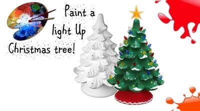 Porcelain light up Christmas tree