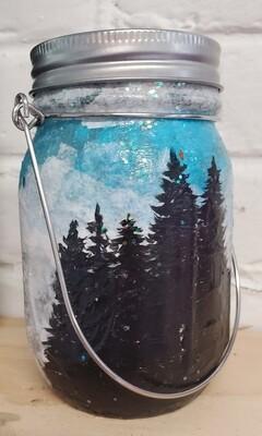 Solar powered mason jar lantern