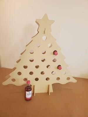 Advent wine/nips/coke tree