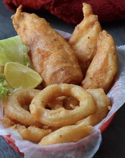 Air Fried Beer Battered Cod