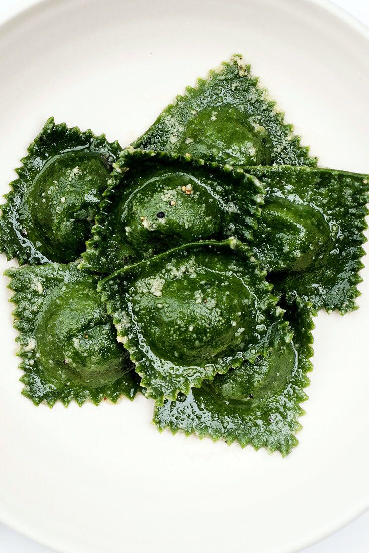 Gluten-Friendly 3 Cheese Green Ravioli