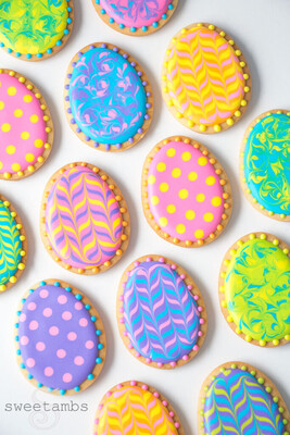 Royal Icing Easter Cookies