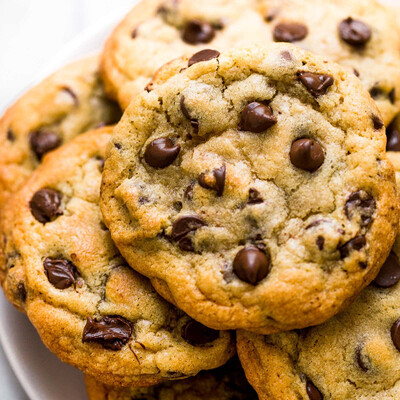 Ooey Gooey Choc Chip Cookies