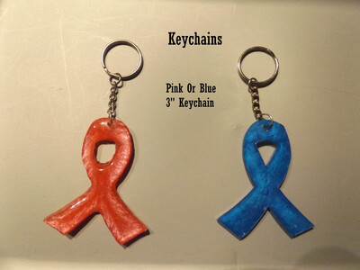 Pink and Blue Keychains