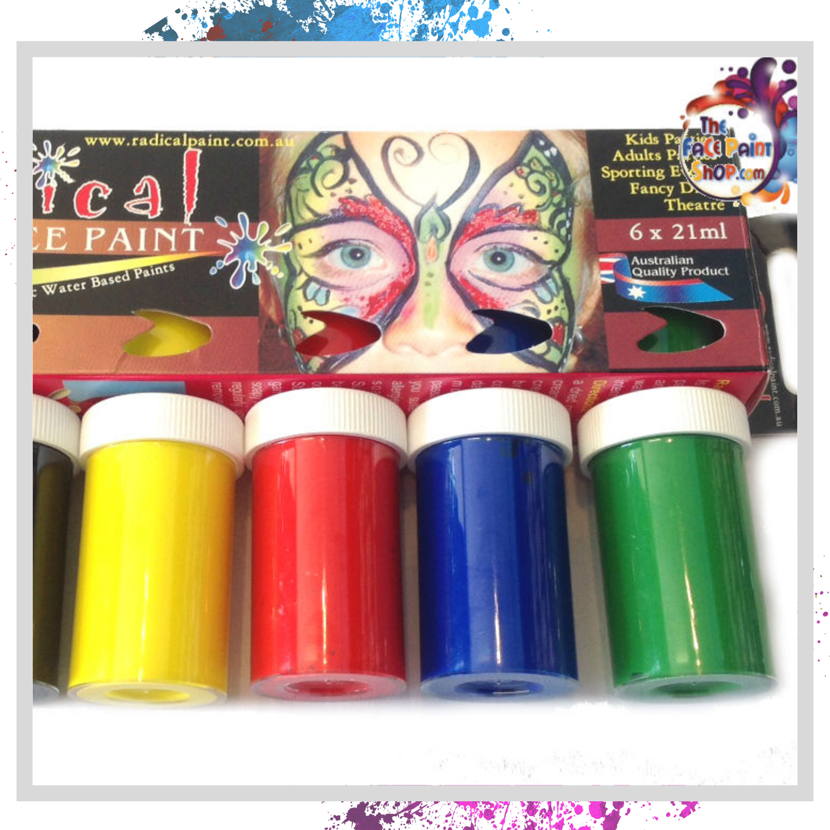 6 x 21ml Face Paint Set Body Painting Art Party Make Up Radical Paint Australian