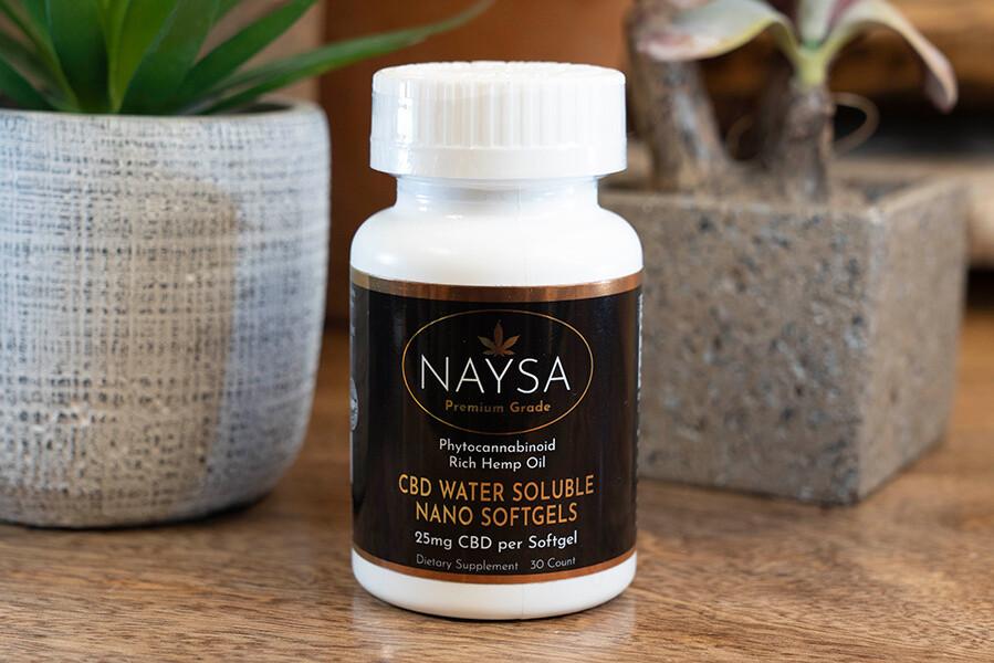 Naysa CBD Water Soluble Nano Softgels