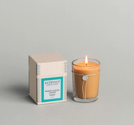 Votivo 6.8oz Aromatic Candle White Ocean Sands