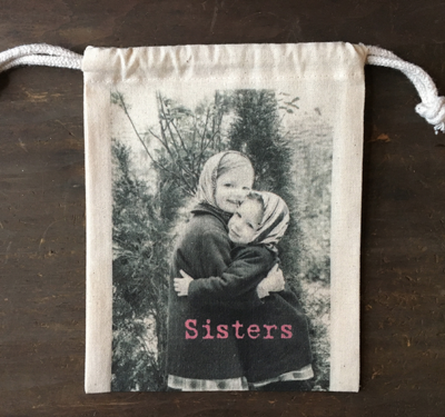 """MY FAVORITE THINGS """"Sister"""" Drawstring Pouch"""