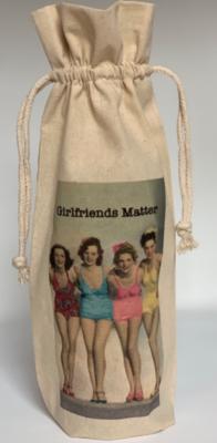 "MY FAVORITE THINGS ""Girlfriends Matter"" Wine Bag"
