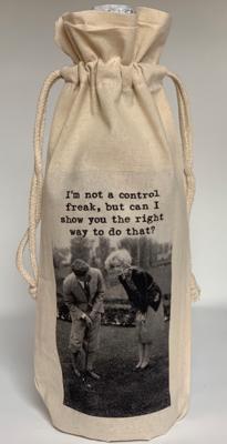 """MY FAVORITE THINGS """"Control Freak"""" Wine Bag"""
