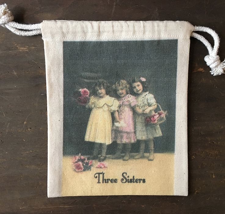 """MY FAVORITE THINGS """"Three Sisters"""" Drawstring Pouch"""