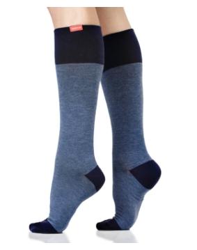 VIMandVIGR Compression Knee High Sock-Heathered Navy