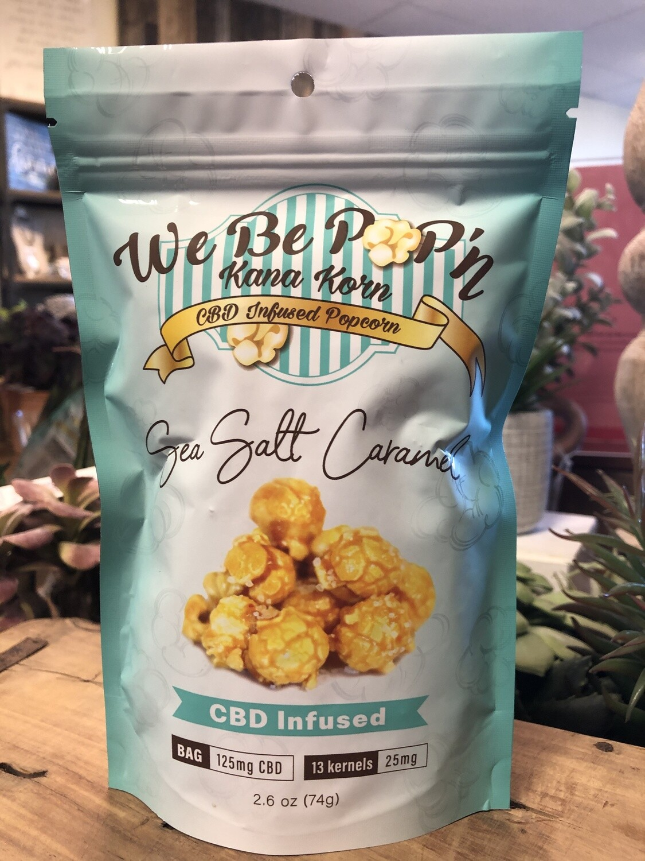 We Be Pop'n CBD infused Popcorn-Sea Salt Caramel