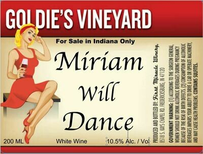 MIRIAM WILL DANCE