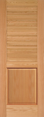Louver over Panel Oak