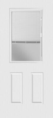 2 Panel Mini-Blind Clear