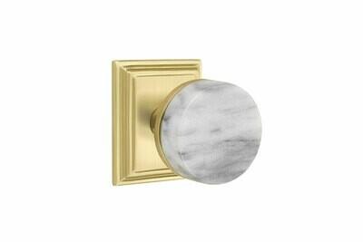 EMTEK SELECT, Conical White Marble Knob