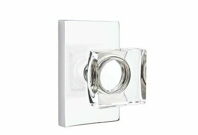EMTEK Modern Square Crystal Knob