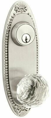 EMTEK Oval Beaded Keyed Style 3-5/8